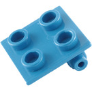 LEGO Blue Hinge 2 x 2 Top (6134)