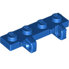 LEGO Blue Hinge Plate 1 x 4 Locking with Two Single Stubs (44568)