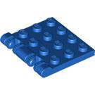 LEGO Blue Hinge Plate 4 x 4 Locking (44570)