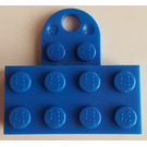 LEGO Blue Magnet Brick 2 x 4 with Plate (90754)