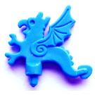 LEGO Blue Minifig Accessory Helmet Plume Dragon