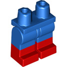 LEGO Blue Minifigure Hips and Legs with Red Boots (21019)