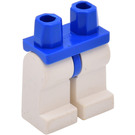 LEGO Blue Minifigure Hips with White Legs