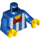 LEGO Blue Minifigure Torso White Striped Ice Cream Seller's Shirt with Red Bowtie (76382)