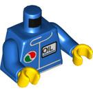 LEGO Blue Minifigure Torso Windbreaker with Octan Logo (76382 / 88585)