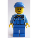 LEGO Blue Overalls and Cap (City) Minifigure