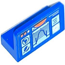 LEGO Blue Panel 1 x 2 x 1 with Control instruments  Sticker with Rounded Corners