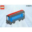 LEGO Blue Passenger Wagon (White Box) Set 4186876