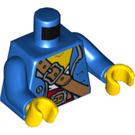 LEGO Blue Pirate Captain Minifig Torso (76382)