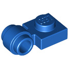 LEGO Blue Plate 1 x 1 with Clip (Thick Ring) (4081)
