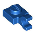 LEGO Blue Plate 1 x 1 with Horizontal Clip (Thick Open 'O' Clip) (52738 / 61252)