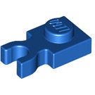 LEGO Blue Plate 1 x 1 with Vertical Clip (Thick 'U' Clip) (4085 / 60897)