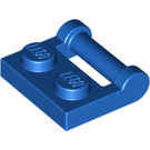LEGO Blue Plate 1 x 2 with Handle (Closed Ends) (48336)
