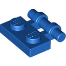 LEGO Blue Plate 1 x 2 with Handle (Open Ends) (2540)