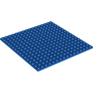 LEGO Blue Plate 16 x 16 with Underside Ribs (91405)