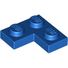 LEGO Blue Plate 2 x 2 Corner (2420)