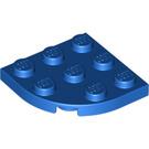 LEGO Blue Plate 3 x 3 Round Corner (30357)
