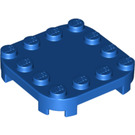 LEGO Blue Plate 4 x 4 x 2/3 Circle with Reduced Knobs (66792)