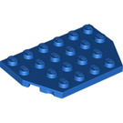 LEGO Blue Plate 4 x 6 without Corners (32059)