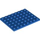 LEGO Blue Plate 6 x 8 (3036)