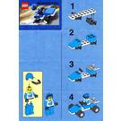 LEGO Blue Racer Set 1272 Instructions