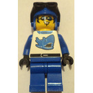 LEGO Blue Racer with shark design Minifigure