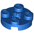 LEGO Blue Round Plate 2 x 2 with Axle Hole (with 'X' Axle Hole) (4032)
