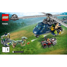 LEGO Blue's Helicopter Pursuit Set 75928 Instructions