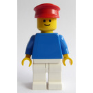 LEGO Blue Shirt and White Trousers and Red Cap Minifigure