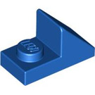 LEGO Blue Slope 1 x 2 (45°) with Plate (15672 / 92946)