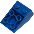 LEGO Blue Slope 2 x 3 (25°) Inverted with Connections between Studs (3747)