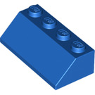LEGO Blue Slope 2 x 4 (45°) with Rough Surface (3037)