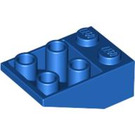 LEGO Blue Slope 25° (33) 2 x 3 Inverted without Connections between Studs (3747)