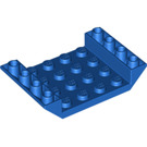 LEGO Blue Slope 4 x 6 45° Double Inverted with Open Center 3 x Ø4.9 Holes (60219)
