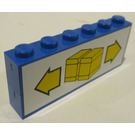 LEGO Blue Stickered Assembly from Sets 6377, 6391