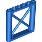 LEGO Blue Support 1 x 6 x 5 Girder Rectangular (64448)