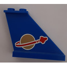LEGO Blue Tail 4 x 1 x 3 with Space Logo (Right) Sticker