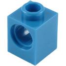 LEGO Blue Technic Brick 1 x 1 with Hole (6541)