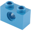 LEGO Blue Technic Brick 1 x 2 with Hole (3700)