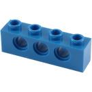 LEGO Blue Technic Brick 1 x 4 with Holes (3701)