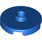 LEGO Blue Tile 2 x 2 Round with Stud (18674)