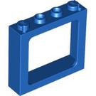 LEGO Blue Train Window 1 x 4 x 3 (center studs hollow, outer studs solid) (6556)