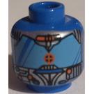 LEGO Blue UFO Droid Blue Head (Safety Stud)