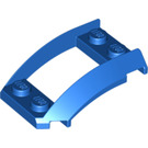 LEGO Blue Wedge 4 x 3 Curved with 2 x 2 Cutout (47755)