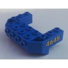 LEGO Blue Wedge 4 x 6 x 1.667 Inverted with Studs on Front Side with '4645' (Both Sides) Sticker