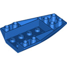 LEGO Blue Wedge 6 x 4 Triple Curved Inverted (43713)