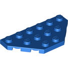 LEGO Blue Wedge Plate 3 x 6 with 45º Corners (2419)