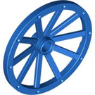 LEGO Blue Wheel 3.2 x 43 with 10 Spokes Wooden (33211)