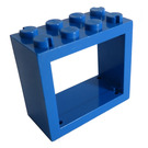 LEGO Blue Window 2 x 4 x 3 with Rounded Holes (4132)