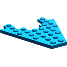 LEGO Blue Wing 8 x 8 with 3 x 4 Cutout (6104)